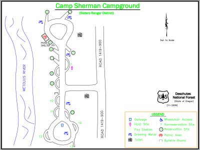 Camp Sherman Campground Map