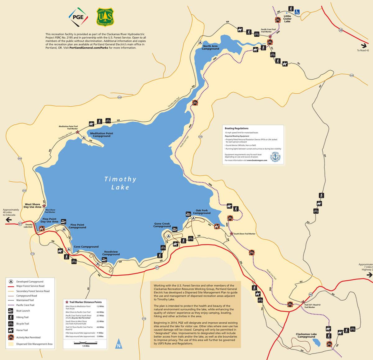 Timothy Lake Oregon Camping Swimming Fishing More - Map of oregon lakes