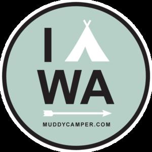 I CAMP Washington Sticker