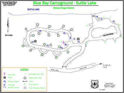 Blue Bay Campground Map