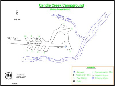 Candle Creek Campground Map