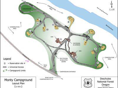 Monty Campground Map Oregon