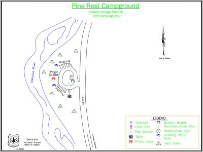 Pine Rest Campground Map